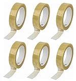 Lot de 6rouleaux de ruban adhésif transparent de qualité supérieure,66m x 24mm par rouleau, ruban adhésif d'emballage de qualité supérieure, lot de 6rouleaux par Gocableties