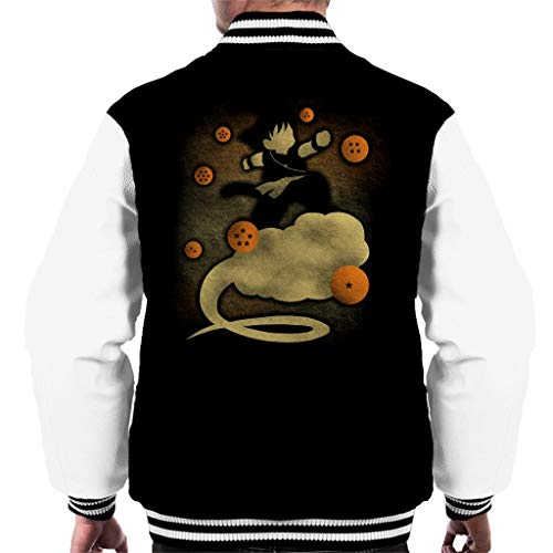 Dragon Ball Z Goku Cloud Silhouette Men's Varsity Jacket