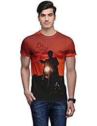 Wear Your Mind Multi-Coloured Poly Cotton Round Neck Printed T-shirt For Men CST075