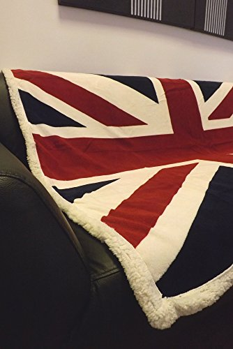 Rapport Fleece-Decke mit Union-Jack-Flagge, extraweich, Bett-/Sofa-Überwurf, rot/weiß/blau. (Sofa Union Jack)
