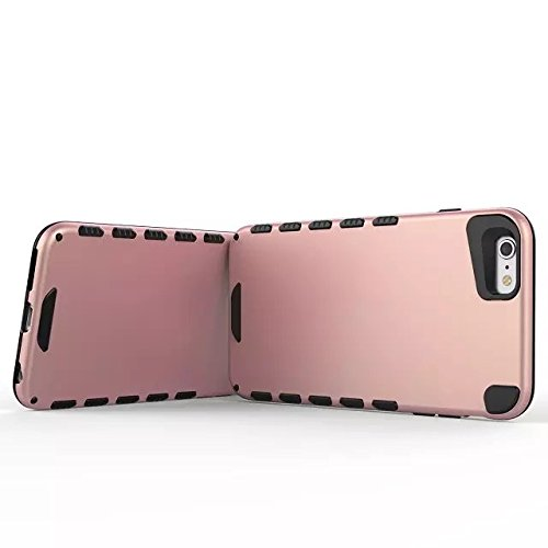 EKINHUI Case Cover IPhone 6 6S PLUS Abdeckung, feste Farbe 2 In 1 neuer Rüstungs-starker Art-hybrider doppelter Schicht Verteidiger-PC-harter rückseitige Abdeckung shockproof Fall Für IPhone 6 6S Plus 1