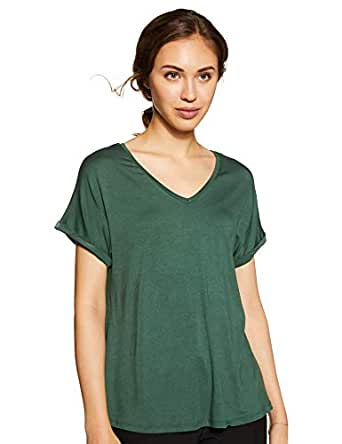 Amazon Brand - Symbol Women's Solid Loose Fit Half Sleeve T-Shirt