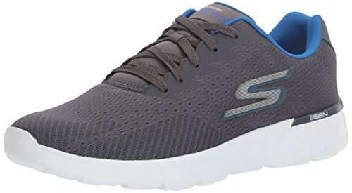 Skechers Performance Men's Go Run 400 Trainers, Grey (Charcoal/Blue), 6.5  UK 40 EU