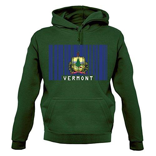 Vermont Barcode Flagge - Unisex Hoodie/Kapuzenpullover - Flaschengrün - XXL