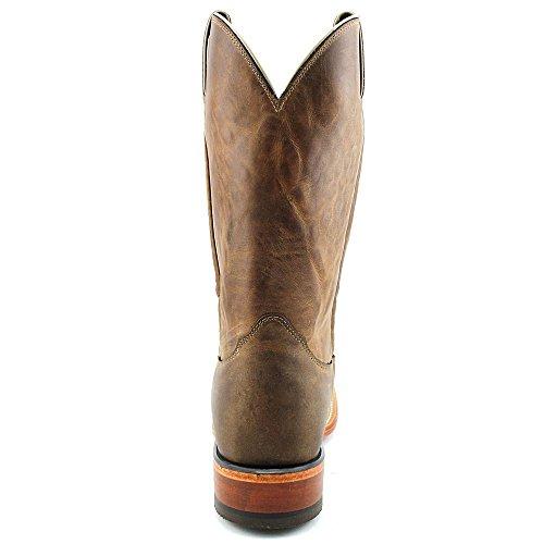 Nocona Nebraska Brown Cowhide Branded Hommes Cuir Santiags brown