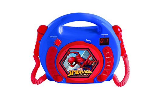 Lexibook RCDK100SP Radio 2 Mikrofonen, Kleinkind CD Player, Spider-Man
