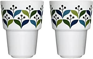 Sagaform 0000445 Retro-style Mug Set of 2 Blue
