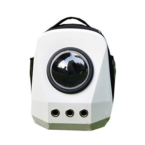 Astronaut Capsule Space Pet Cabin BagPremium Pet Carrier Rucksack Outing Portable Backpack Cat Bag Shoulder Space Bag Cat Dog Bag Pet Carrier Airline zugelassen,White (Dog White Carrier)