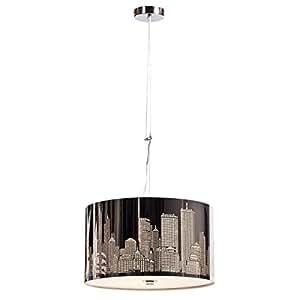 new york lustre suspension 40cm hauteur 23cm hauteur plafond 120cm casa e cucina. Black Bedroom Furniture Sets. Home Design Ideas
