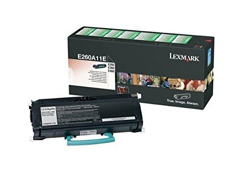 Original Toner passend für Lexmark E 360 D Lexmark E260A11 00E260A11E , 0E260A11E , E260A11E - Premium Drucker-Kartusche - Schwarz - 3.500 Seiten (Schwarz Cart Lexmark Toner)