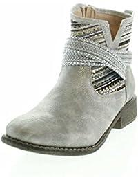Laufsteg München Ankle Boots - Botas de Material Sintético Para Mujer