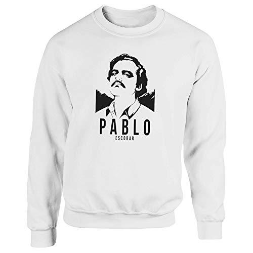 Narcos Pablo Escobar Season 2 Black by Dune Blanca Sudadera con Capucha Unisex Medium