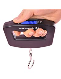 ATKO Upto 50 Kg Black Digital Electronics Portable Luggage Scale with LCD Backlight