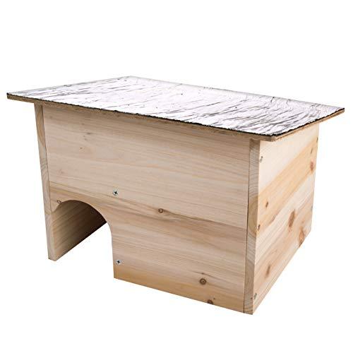 Gardigo 90568 Maison Cabane pour Hérissons Abri, Habitation pour Hérisson, Entrée Labyrinthe pour Garantir une Protection Optimale