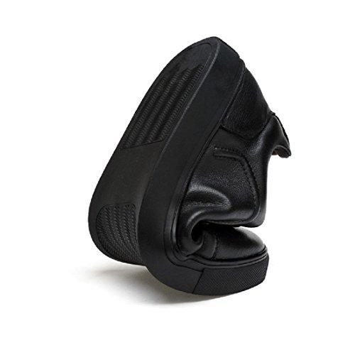 Uomo Scarpe di pelle traspirante Antiscivolo Scarpe casual Ballerine Leggero Confortevole Taglia larga euro DIMENSIONE 39-48 Black