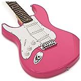 Guitare Électrique pour gaucher LA par Gear4music Rose