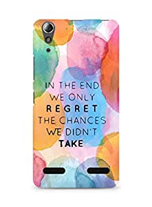 AMEZ we only regret the chances we didnt take Back Cover For Lenovo A6000