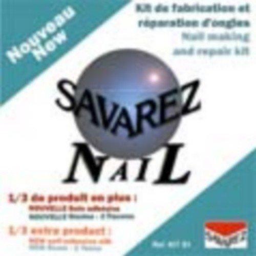 LIMA UÑAS GUITARRA - Savarez (Kit/S1) (Kit Reparacion Uñas) (Lima+Rollo Seda+Resinas con Aplicador) S1 Kit