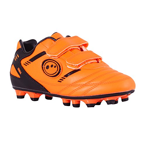 Optimum Jungen Tribal-Velcro Moulded Stud Fußballschuhe, Orange (Fluro Orange/Black), 26 EU (8 Kinder UK)