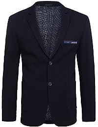 OZONEE Herren Sakko Klassische Sweatjacke Casual Sakko Anzug Jacket Blazer OZN 008