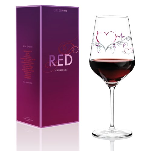 Ritzenhoff 3000008 Designweinglas Rotwein Kurz Design 'Herz F14
