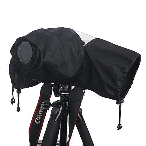 Professional Waterproof DSLR Camera Rain Cover (Japanese Taffeta Material), Great for Rain Dirt Sand Snow