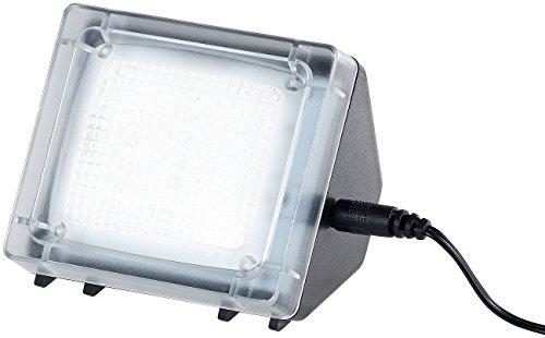 VisorTech Fernsehatrappe: TV-Simulator zur Einbrecher-Abschreckung, 20 flackernde LEDs, Netzteil (Fake TV)