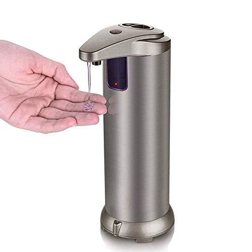 Unbekannt Automatischer Seifenspender mit Boden,Premium Fingerabdruck beständiger gebürsteter Edelstahl berührungsloser Infrarot-Bewegungssensor für Bad oder Küche
