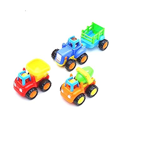 Olly Polly Construction vehicle set Toy Set For Children Kids Toys Construction Team Set Of 3 - tractor mixer truck