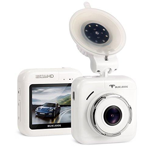 BUIEJDOG Mini caméra de voiture Full HD 1080p Dash Cam Enregistreur vidéo Grand Angle 170° Polyvalent,WDR, Moniteur de stationnement, Capteur-G, Enregistrement en Boucle