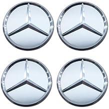 FORTEN CAR x4 Nabenkappen 75 mm Logo Mercedes AMG Felgen Lega Classe A B C E CLA CLK M ML S