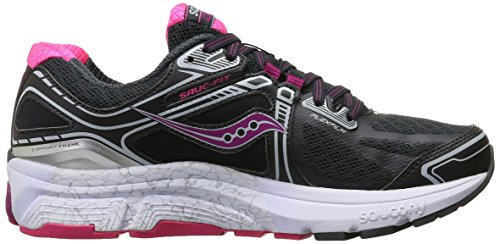Saucony Omni 15, Chaussures de Running Entrainement Femme Gris (Grey/Purple/Pink)