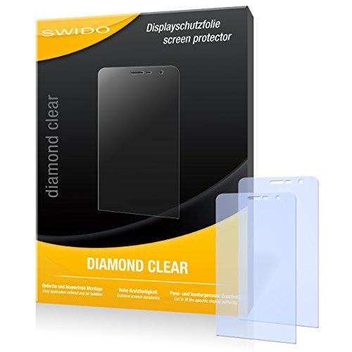 SWIDO 2 x Bildschirmschutzfolie Wiko Slide Schutzfolie Folie DiamondClear unsichtbar