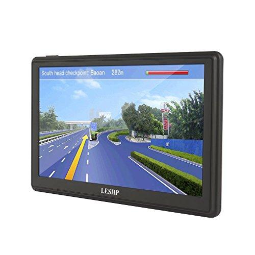 LESHP - 3D Navigatore GPS Auto per Europa Display da 7 Pollici Mappe a Vita (WinCE, 8GB)
