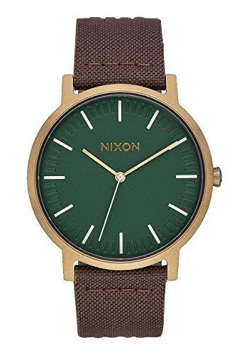 Nixon Hommes Analogique Quartz Montre avec Bracelet en Cuir A1058-2852-00