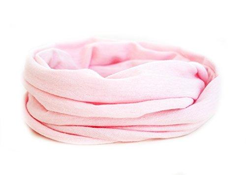 Andrea Traub - FASHION Kleinkinder und Baby - Loop zweifach gewickelt, uni rosa, Kids Schlauchschal, Schal Tuch für Mädchen und Jungen