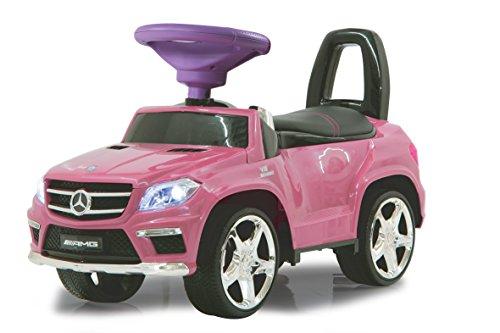 Jamara 460240 - Rutscher Mercedes GL63AMG pink – Kippschutz, Kunstledersitz mit roten Ziernähten, Kofferraum unter der Sitzfläche,...