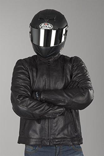 REVIT STEWART Herren Motorrad Lederjacke City - schwarz Größe 52