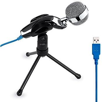 Tonor USB Microfono a Condensatore Professionale Schall Podcast Studio microfono con supporto per Skype PC Mac Laptop Computer Nero