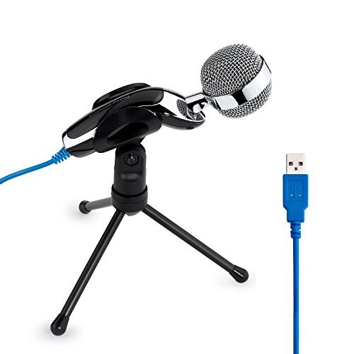 Price comparison product image Tonor USB Clear Digital Sound & Professional Condenser Sound Microphone with Stand for Skype PC Mac Laptop Recording