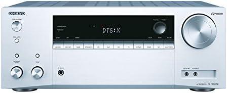 Onkyo 7.2 Kanal AV Receiver, TX-NR575E-S, 135 Watt/Kanal, Multiroom, Heimkino, Dolby/DTS:X, WLAN, Bluetooth, Streaming, Musik Apps (Spotify, Tidal, Deezer), Radio, USB/HDMI/Audio in, Silber, 1500441