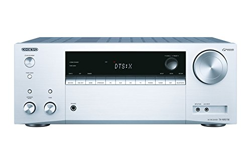 Onkyo TX-NR575E(S) 7.2 Kanal AV Receiver (135 W/Kanal, Multiroom, Heimkino, Dolby/DTS:X, WLAN, Bluetooth, Streaming, Musik Apps, Spotify, Tidal, Deezer, Radio, USB/HDMI/Audio in), Silber