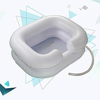 SUN RNPP Shampoobehälter & Schalen Aufblasbar waschbecken Deluxe schlauchboot für ältere und behinderte Menschen, Schwangerschaft, Kinder, weiß