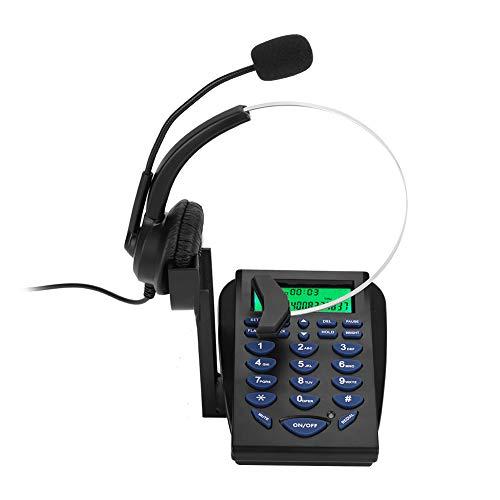 Dial-pad Headset (Eboxer Business-Büro multifunktionale Telefon-Dial-Pad-Call-Center-Telefon-Headset Call-Center-Anruf Telefon)