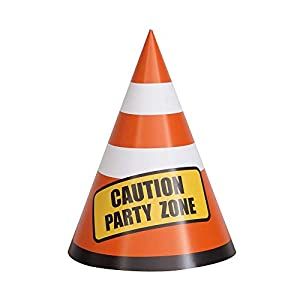 Unique Party 52160 - Sombreros para fiesta de construcción, paquete de 8