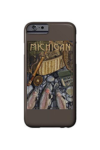 Michigan - Fishing Still Life (iPhone 6 Cell Phone Case, Slim Barely There) (Michigan Fishing)
