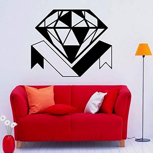 JXWR 68x57 cm Diamant wandtattoo Diamant schmuck Shop dekorative Glas wandaufkleber innen Schlafzimmer Wohnzimmer abnehmbare abziehbild