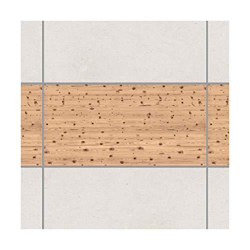 Apalis Fliesenaufkleber Fliesenbild Fliesen-Deko Antique Whitewood Set 1teilig 30x60cm