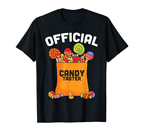 Official Candy Taster Shirt Halloween Gift for Boys Girls T-Shirt
