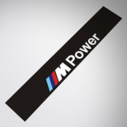 Demupai Windschutzscheibe Banner Aufkleber vinyl - Aufkleber für M Power - Zubehör (Matte Schwarzen Hintergrund)